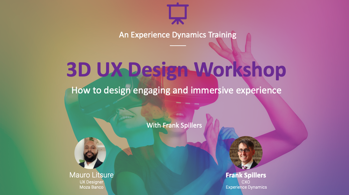 3D UX Design workshop